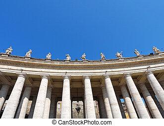 Facade of basilica of saint Peter