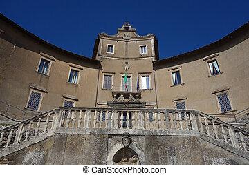 Facade of Colonna-Barberini Palace in Palestrina - Colonna-...