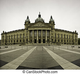 Facade of Federal Administrative Court, Germany