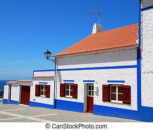 Facade of house, Porto Covo, portugal