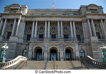 Library of Congress - Facade of Library of Congress Building...