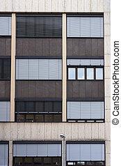 Facade of modern building (fragment).