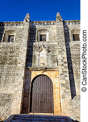 Facade of Old Church in Campeche