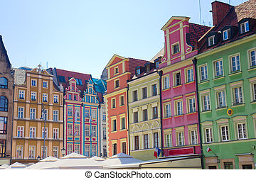 facade of old houses