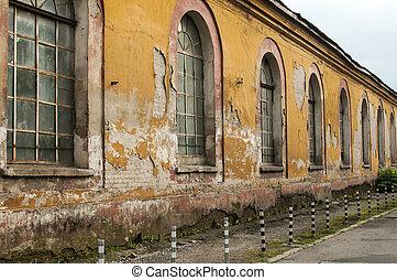 Facade of old industrial building