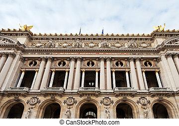 facade of Opera House - Palais Garnier in Paris
