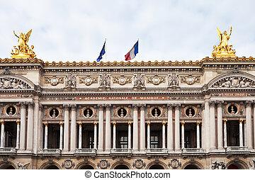 facade of Opera Palais Garnier in Paris