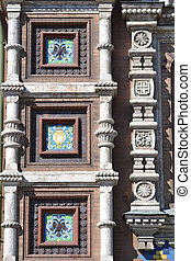 Facade of orthodox church Spas na Krovi - Ornate detail of...