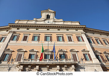 Italian Parliament called Monte Citorio In Rome