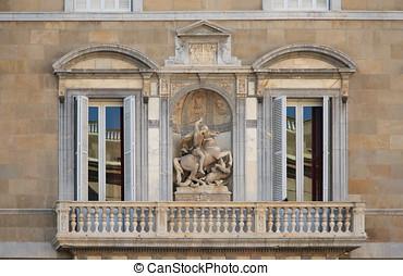 Facade of Palau de la Generalitat de Catalunya