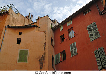 Facade of residential house