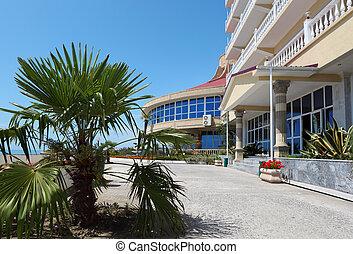 Facade of southern hotel