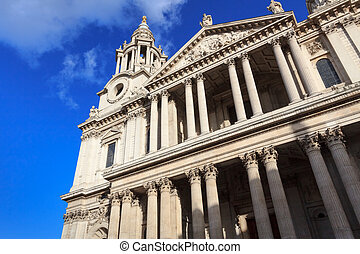 Facade of St. Paul's cathedral in London