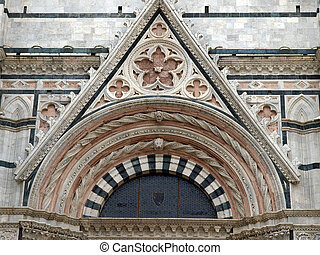 Facade of the Baptistery in Siena