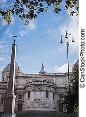 Facade of the Basilica Santa Maria Maggiore in Rome