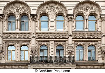 facade of the building.