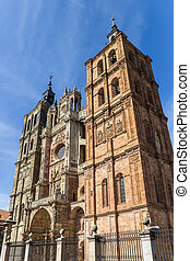 Facade of the cathedral in Astorga