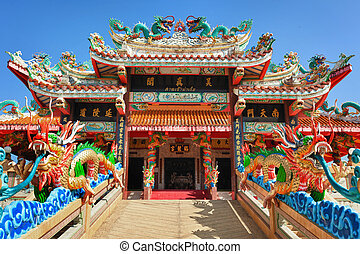 Facade of the Chinese Temple