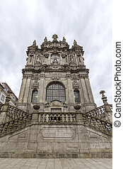 Facade of the Clerigos Church, is one famous panoramic...