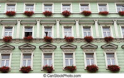Facade of the green building