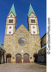 Facade of the historic Basilika in Werl, Germany