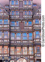 Facade of the historic Wedekindhaus building in Hildesheim