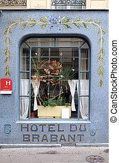 Facade of the Hotel du Brabant in Paris, France