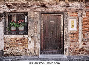 Facade of the old Italian house