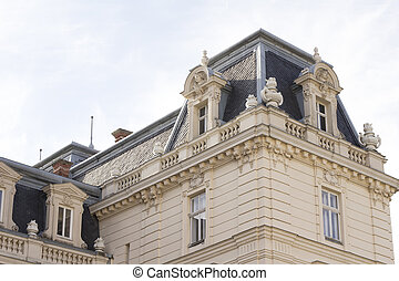 Facade of the palace in Lvov