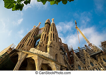 Sagrada Familia Cathedral - Facade of the Sagrada Familia...