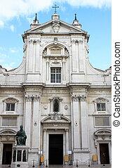 Facade of the Shrine of Loreto, Italy