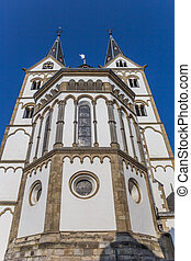 Facade of the St. Severus church in Boppard, Germany