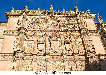 Facade of the university of Salamanca, Castilla y Leon...