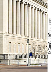 Facade of Treasury Building Washington DC Columns