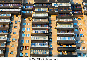 facade of urban apartment house