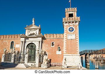 Facade of Venetian Arsenal in Venice - Facade of Venetian ...