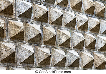 Facade pattern of the Art Museum in Segovia, Spain