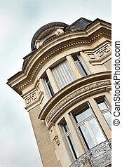 Facade of a stylish art deco building