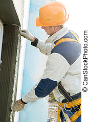 facade stopping and surfacer works