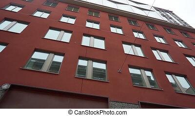 facades, city., buildings, concept., steadicam, streets, старый, scandinavia., медленный, современное, путешествие, motion., европейская, houses, узкий, shot: