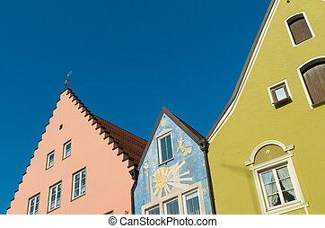 facades of houses