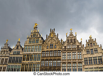 grand market square in antwerp