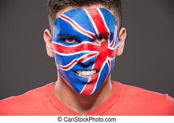 faccia, art., flags.