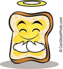 faccia, carattere, cartone animato, innocente, bread