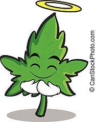 faccia, carattere, cartone animato, innocente, marijuana
