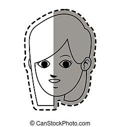 faccia, di, giovane, icona, immagine