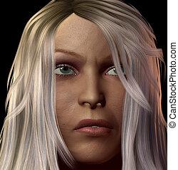 faccia femmina