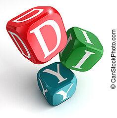 faccia lei, su, rosso, blu verde, scatola
