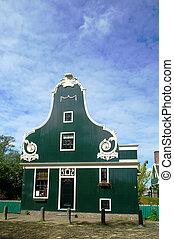 facciata, casa, tipico, olandese