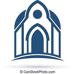 facciata, cupula, chiesa, icona